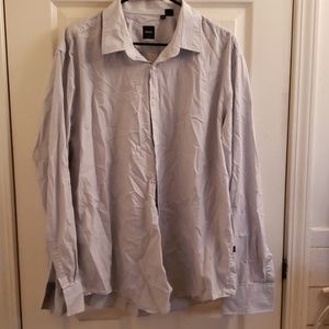 Men's Hugo Boss 2XL Light Blue Pinstriped Shirt